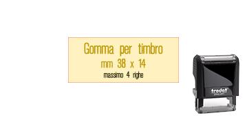 GOMMA 38X14 PER TRODAT 4911