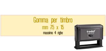 GOMMA 75X15 PER TRODAT 4918