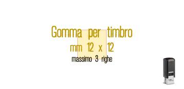 GOMMA 12X12 PER TRODAT 4921