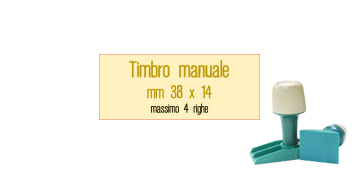 TIMBRO MANUALE 38X14 MM