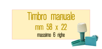 TIMBRO MANUALE 58X22 MM