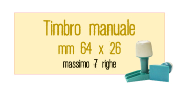 TIMBRO MANUALE 64X26 MM