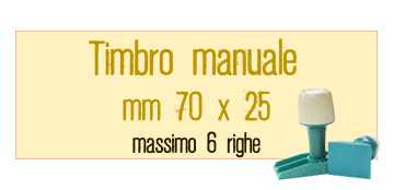 TIMBRO MANUALE 70X25 MM