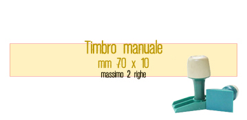 TIMBRO MANUALE 70X10 MM