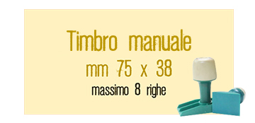 TIMBRO MANUALE 75X38 MM