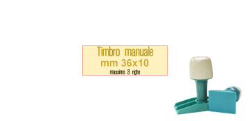 TIMBRO MANUALE 36X10 MM