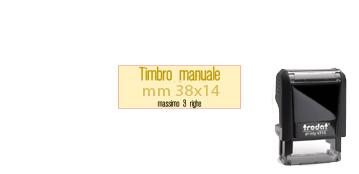 GOMMA 38X14PER TRODAT POKET PRINTY 9511