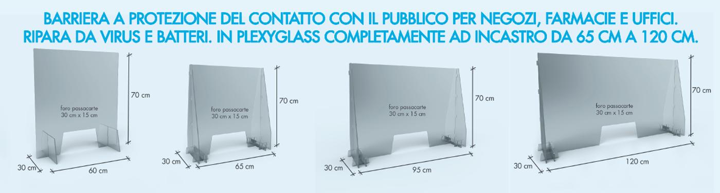 Barriera plexiglass protezione