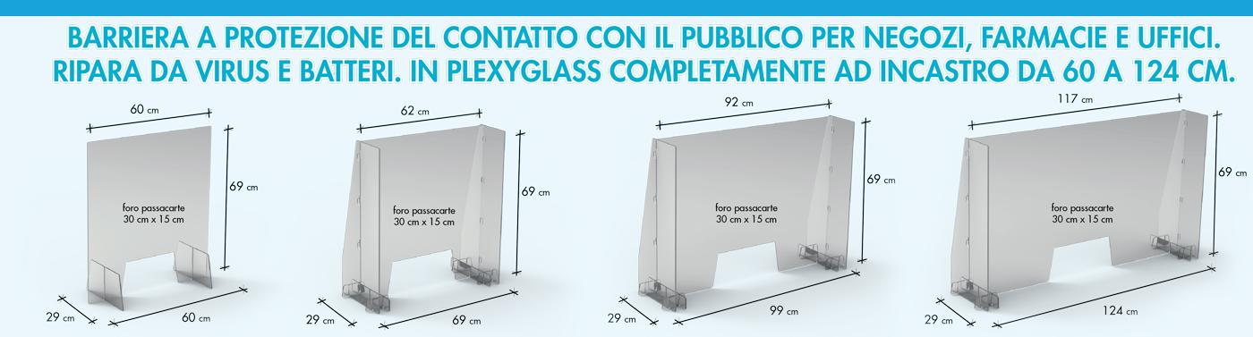 Barriera plexiglass protezione 2.0